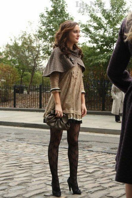 Gossip Girl Fashion Blair Waldorf Cape Look Lauren Messiah
