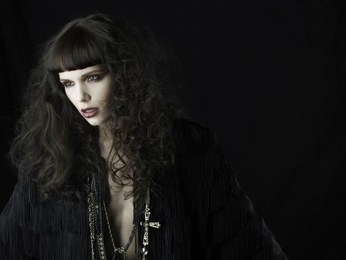 gothic edgy fashion model