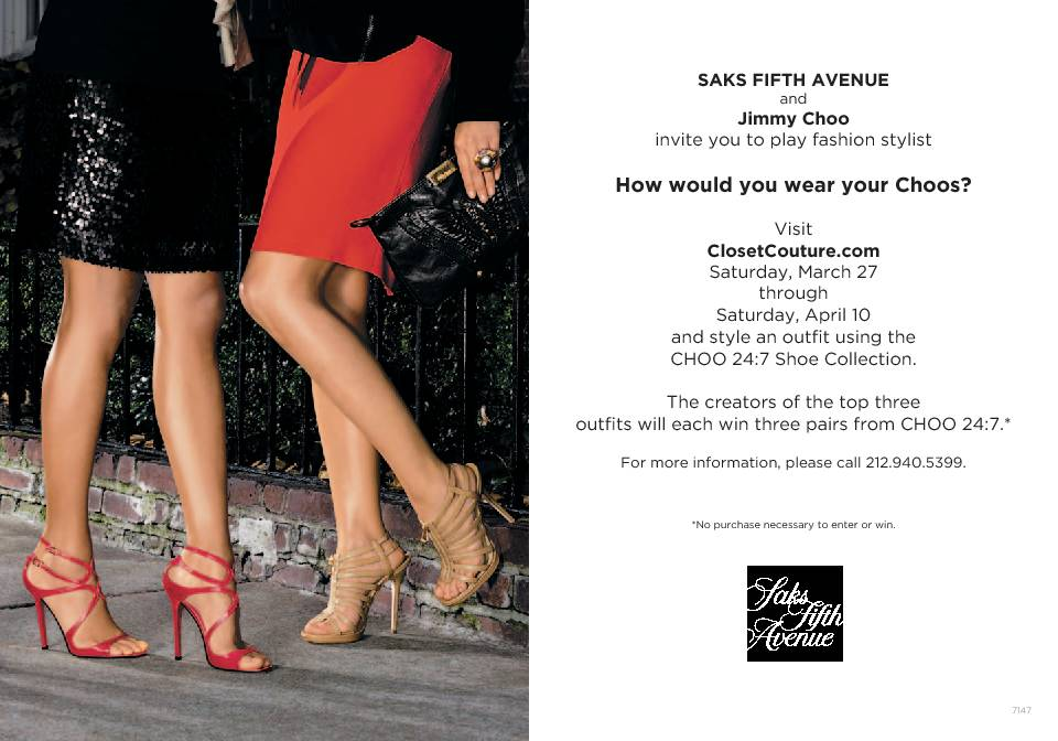 jimmy choo closet couture contest