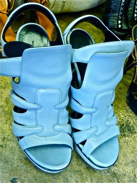 balenciaga blue shoes
