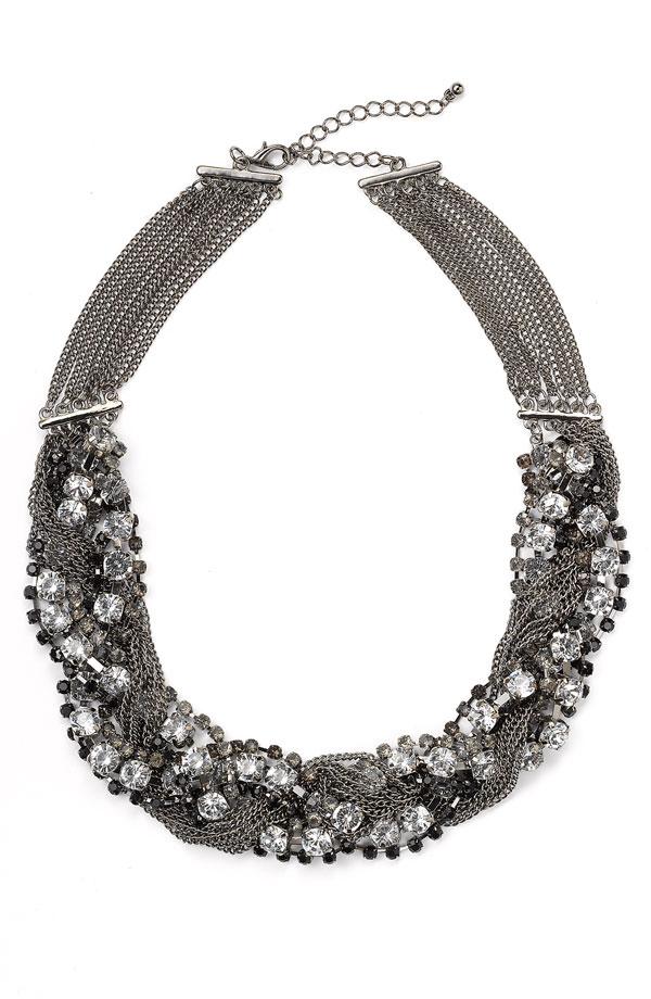 Tasha Twisted Crystal Necklace