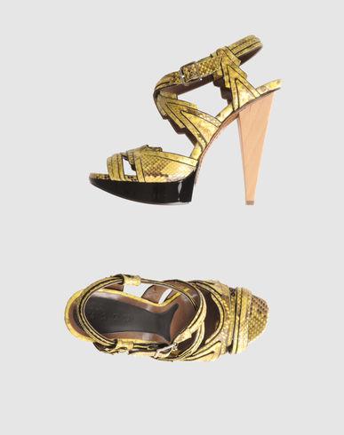 yellow marni shoes python