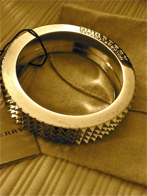 burberry gold studded braclet