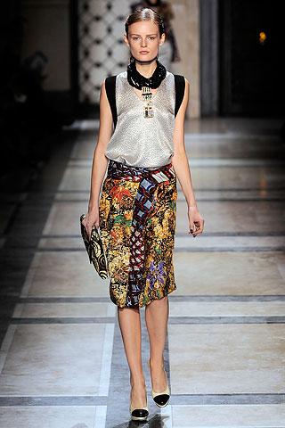 dries tribal print skirt