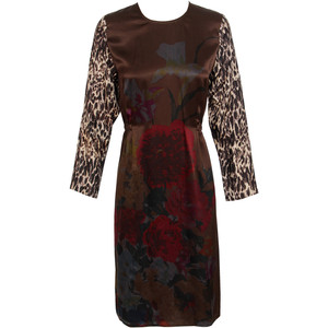 dries leopard and floral print dress