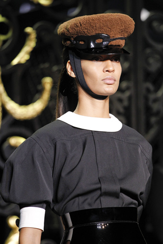 louis vuitton conductor hat runway