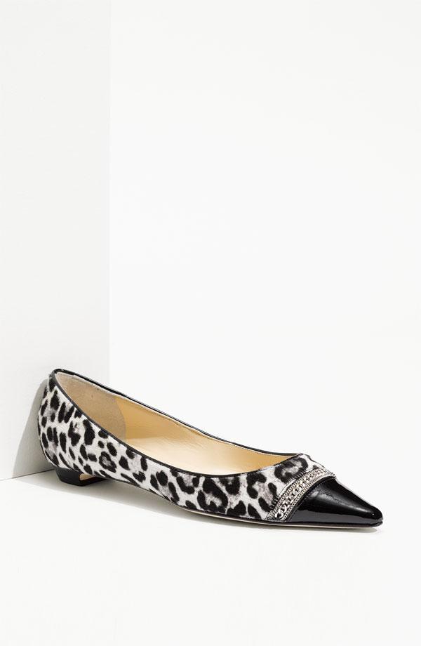 jimmy choo leopard print flats