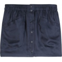 proenza schouler skirt blue suede