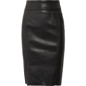 burberry stretch leather skirt