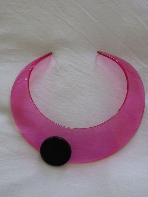 Giorgio Armani lucite choker pink