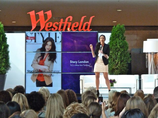 stacy london on stage