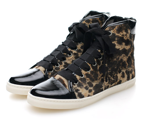 lanvin leopard print high tops