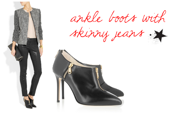 How to Wear Ankle Boots With Jeans 2012 How to Wear Ankle Boots