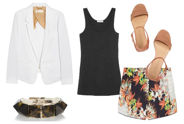 white blazer summer look