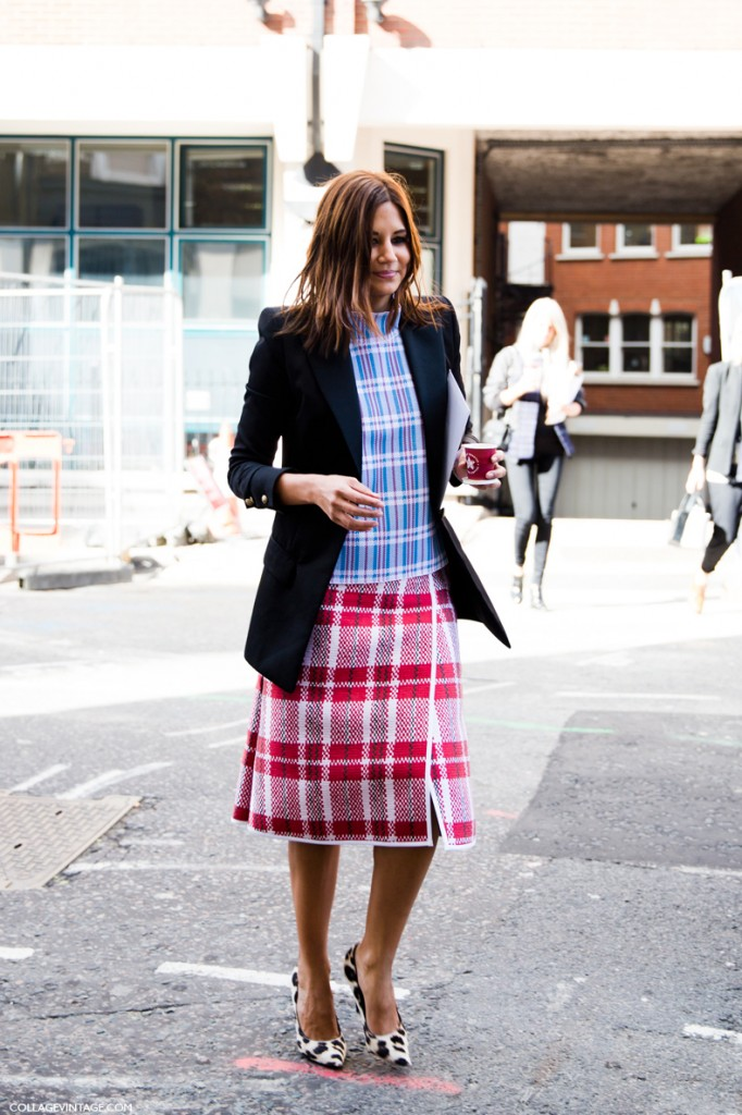 10 ways to wear plaid this fall lauren messiah Celine fashion street style
