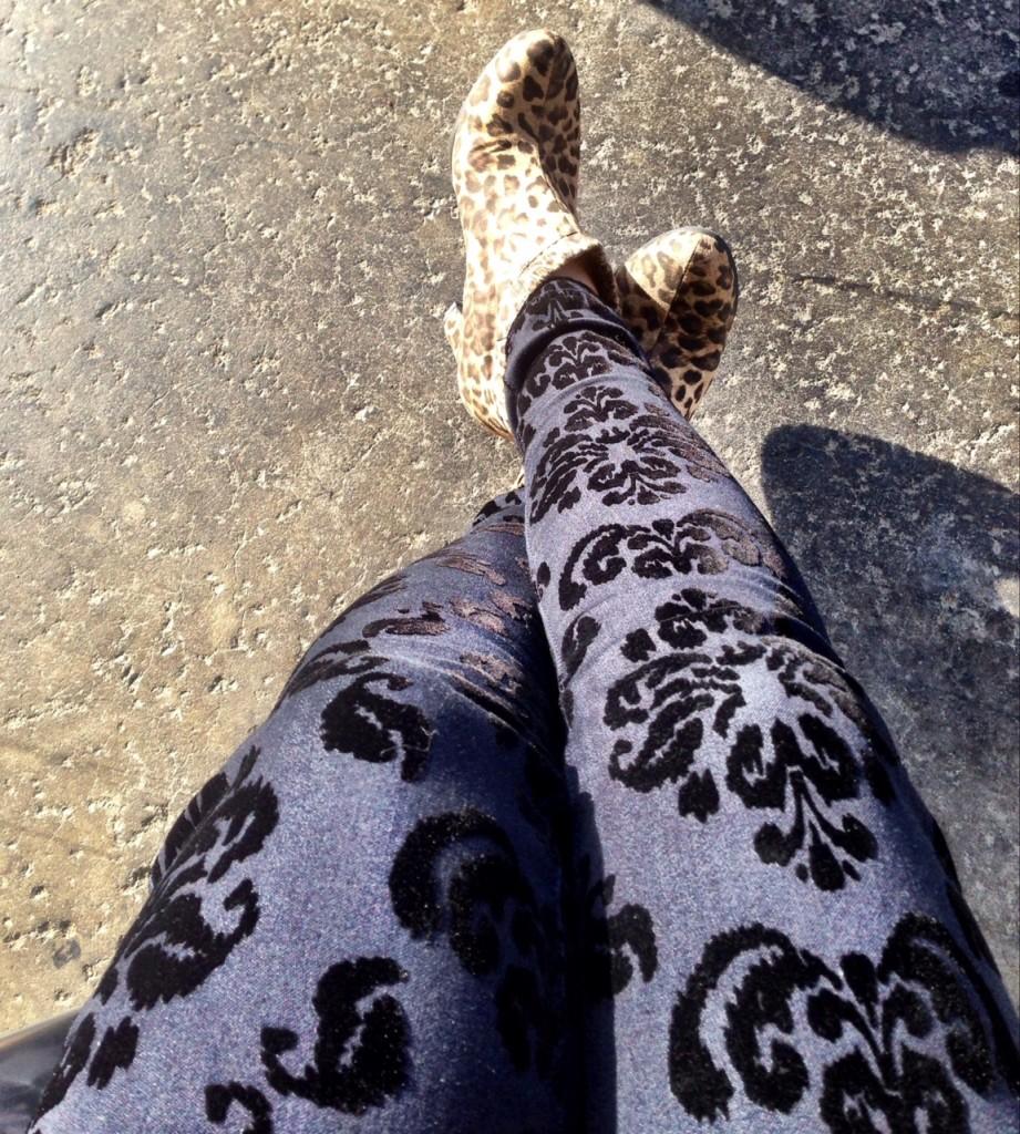 Target flocked jeans