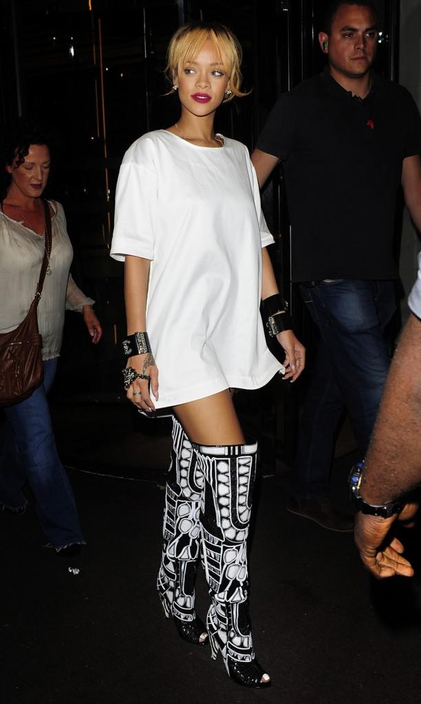 Rihanna arrives at Cuckoo night club in London