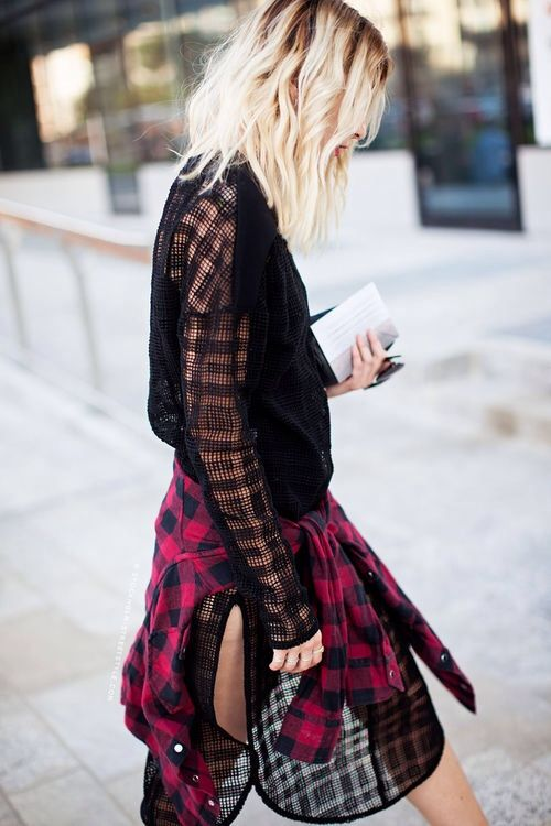 flannel street style