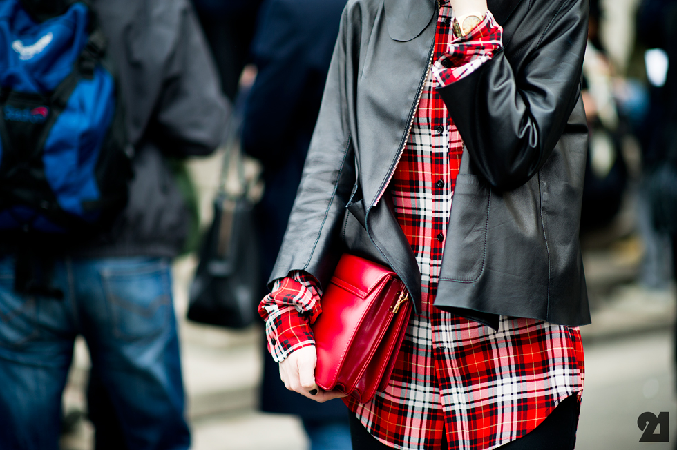 street style flannel shirt