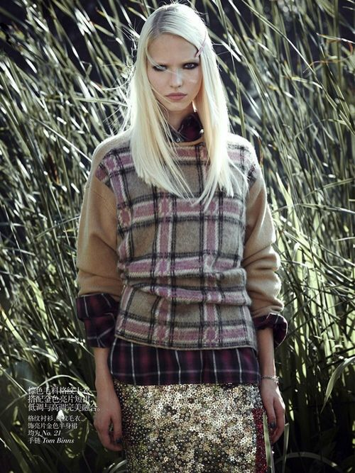 plaid and sequins