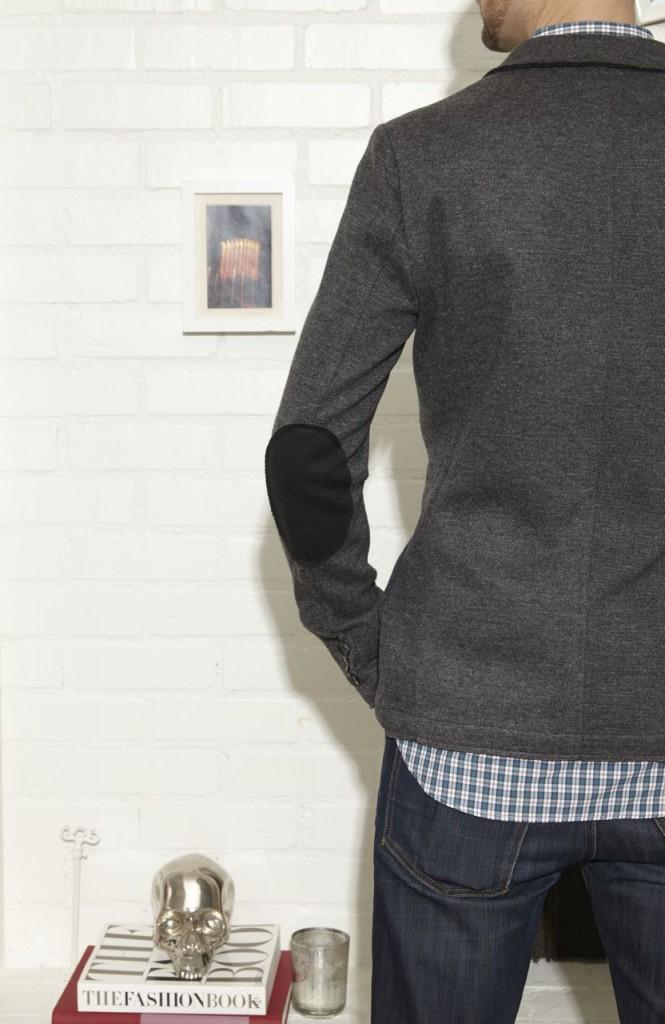 mens knit blazer