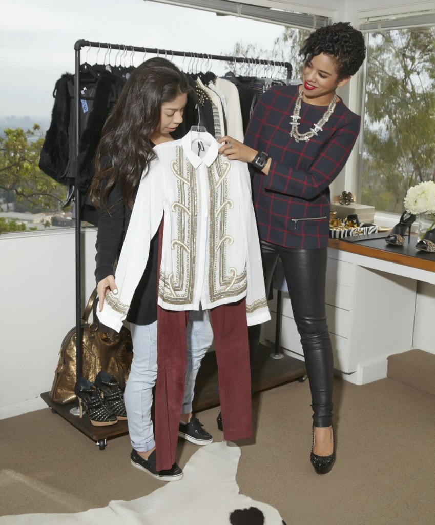 stylist lauren messiah in hollywood hills with client
