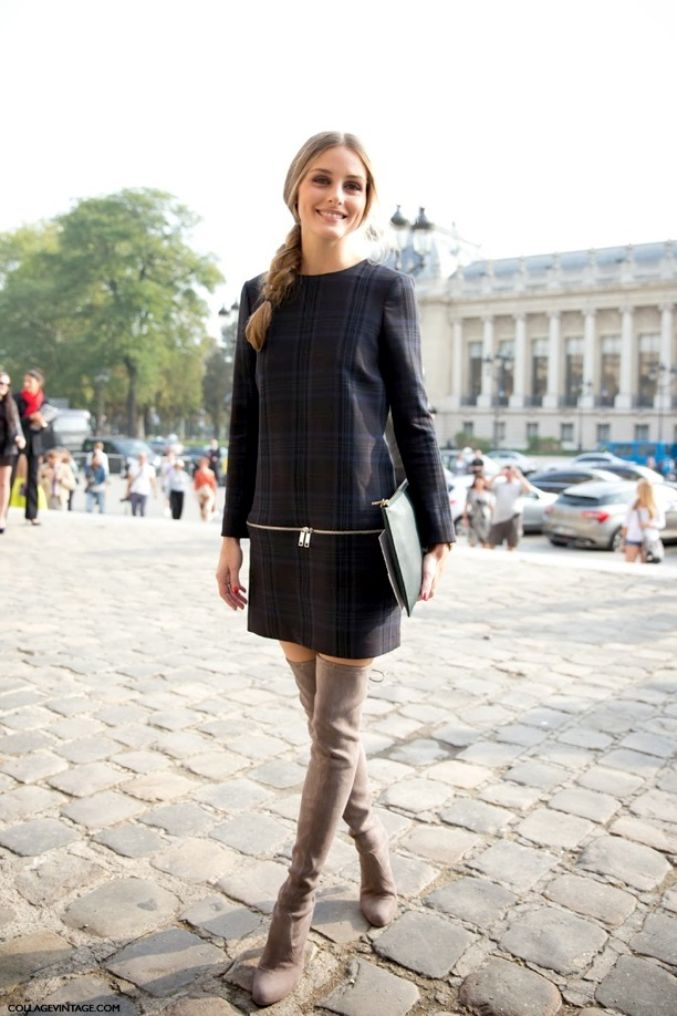 PFW STREET STYLE SHIFT DRESSES OVER THE KNEE BOOTS 2