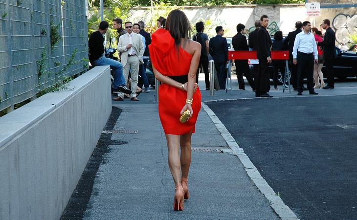 italian+streetstyle+red+dress