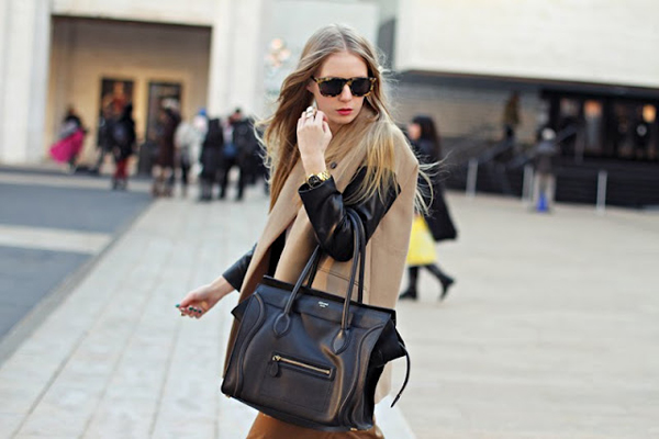 Carolinaengman-celine+bag-+camel+coat+with+leather+sleeves-+womens+street+style