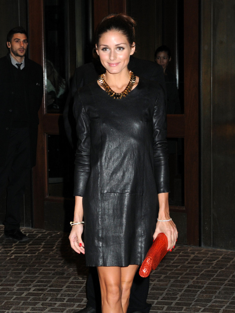 olivia-palermo-black-leather-dress