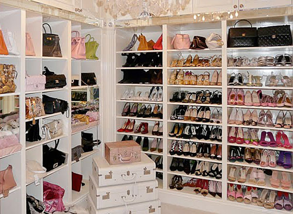 16 drool worthy shoe closets lauren messiah. Black Bedroom Furniture Sets. Home Design Ideas