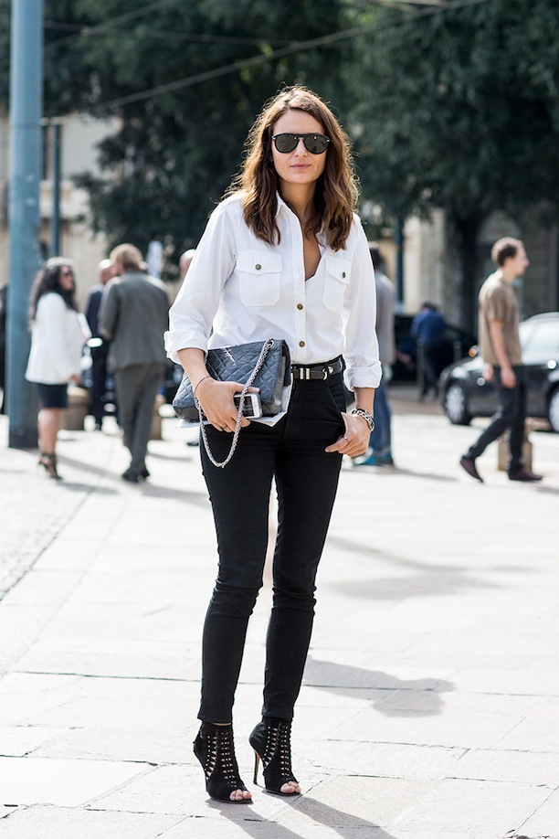 10 Ways to Wear a White Button-Up Shirt | Lauren Messiah