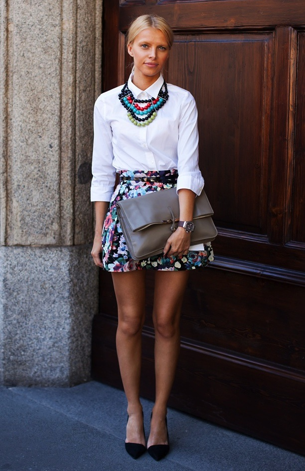 10 Ways To Wear A White Button Up Shirt Lauren Messiah