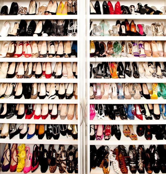 Closet Shoe Rack Angle