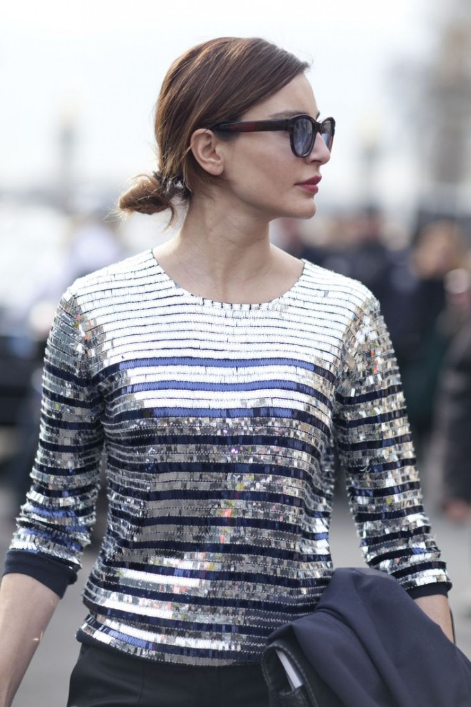 striped sequin top