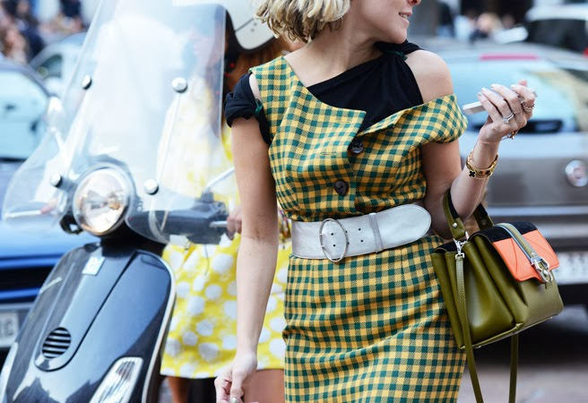fashion+street+style+paris+gingham+check+dress+green+yellow+cococozy+tommy+ton+style+dot+com
