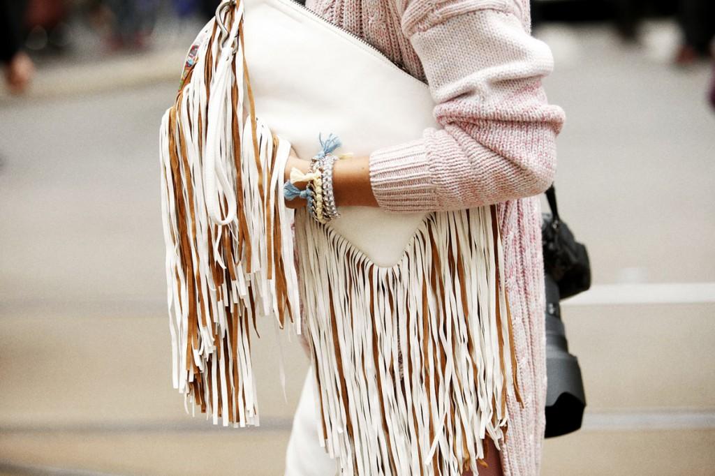 fringe purse street style