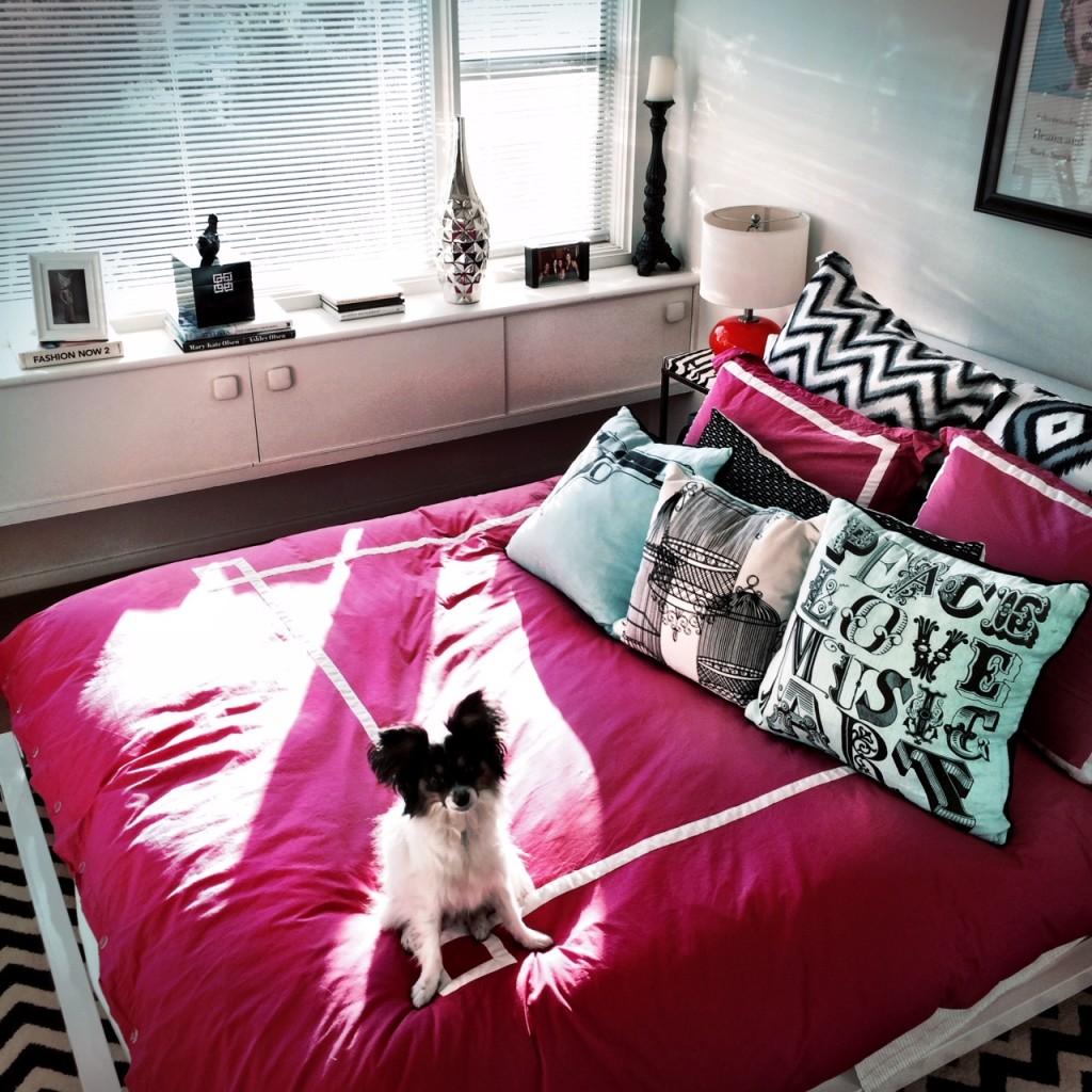 pink jonathan adler bed