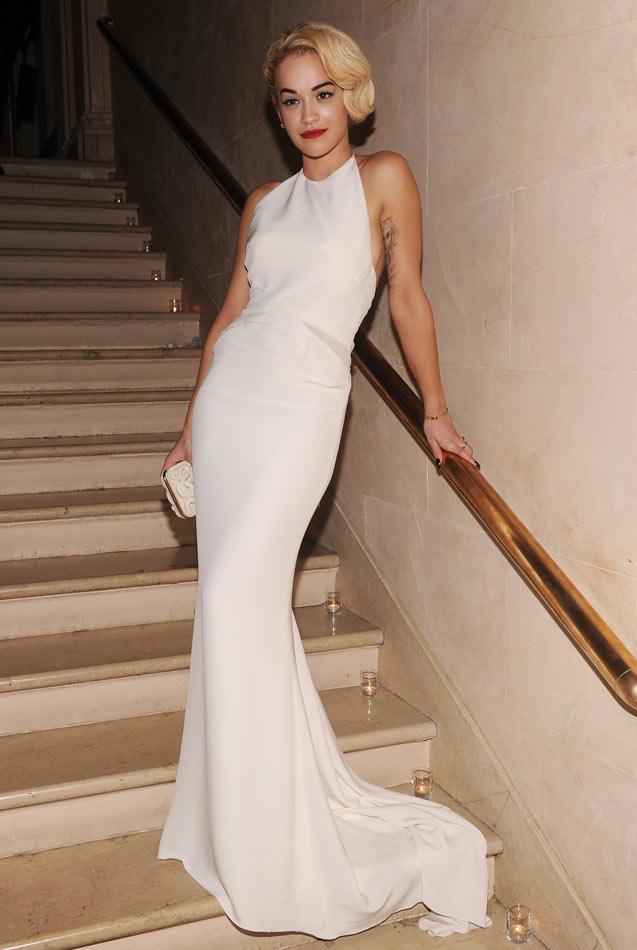 rita ora white gown