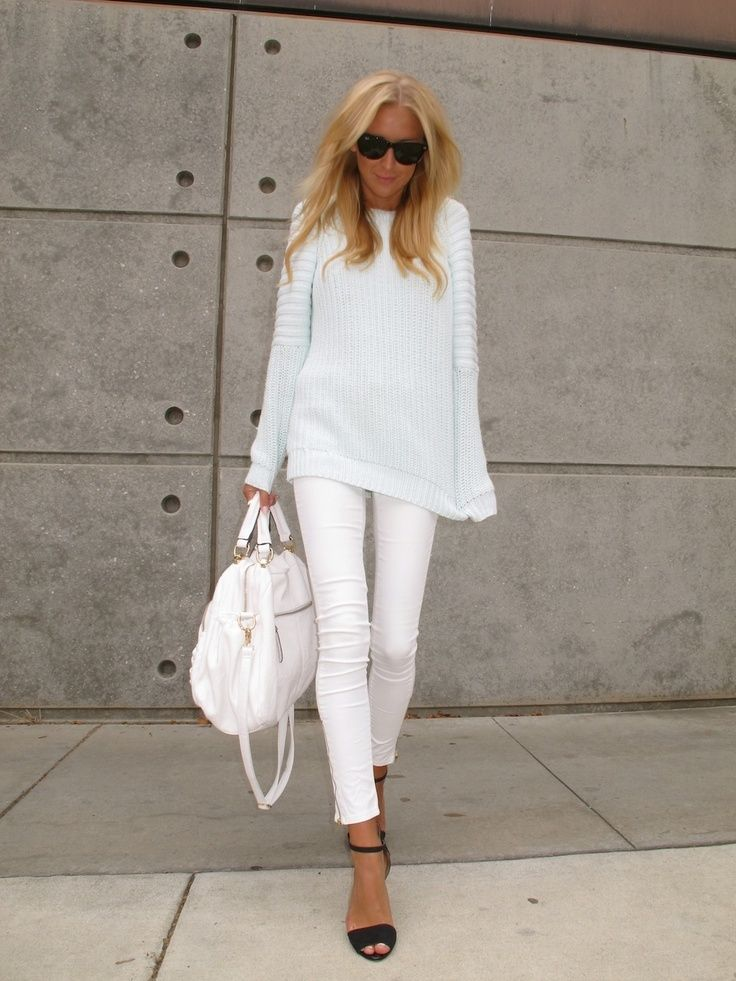 10 Ways to Wear White Jeans | Lauren Messiah