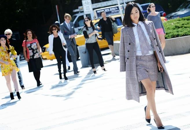 street style skirt suit