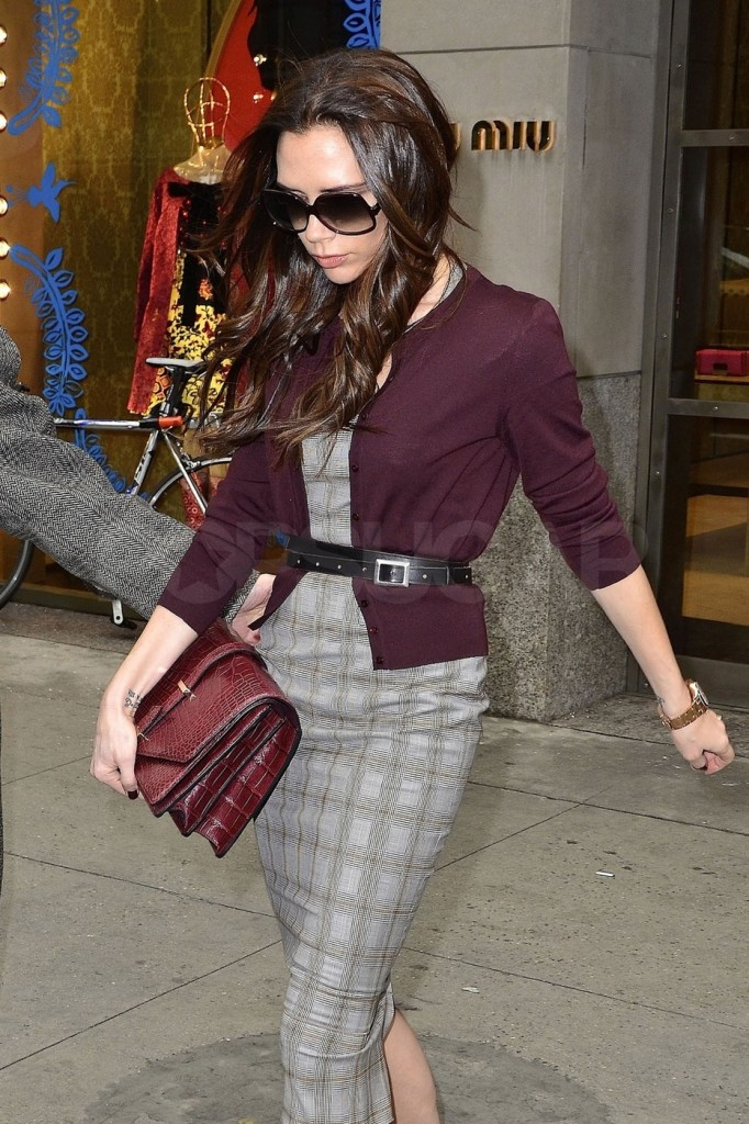 Victoria Beckham is seen doing some retail therapy on Valentine's Day as she leaves a Miu Miu store in New York City