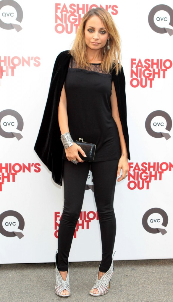 """Nicole Ritchie Happy To Answer Questions While At """"Fashion's Night Out"""" In NYC"""