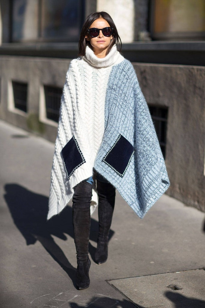 street style poncho