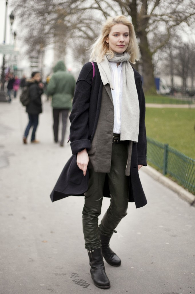 layered leather look