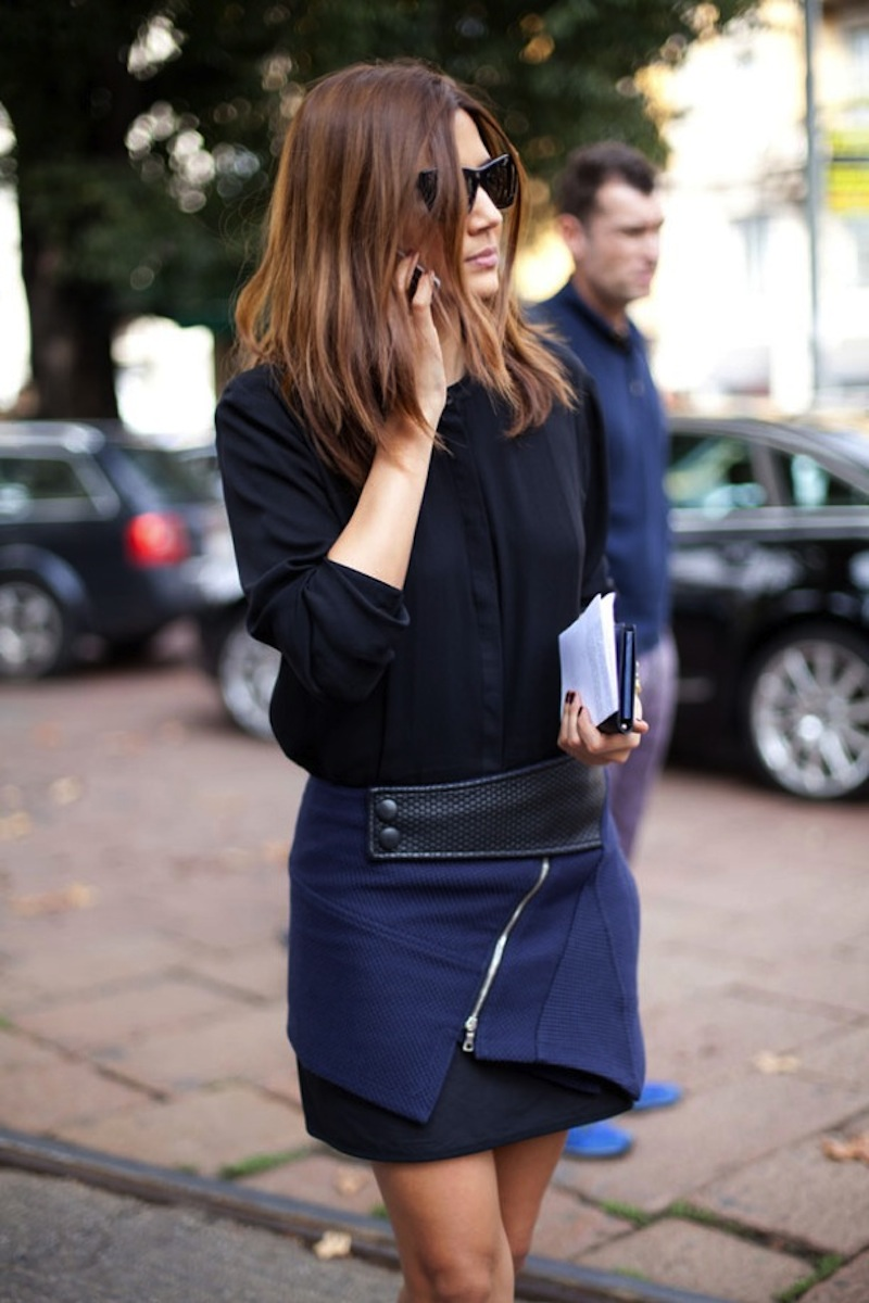 10 Ways To Wear Navy And Black Lauren Messiah
