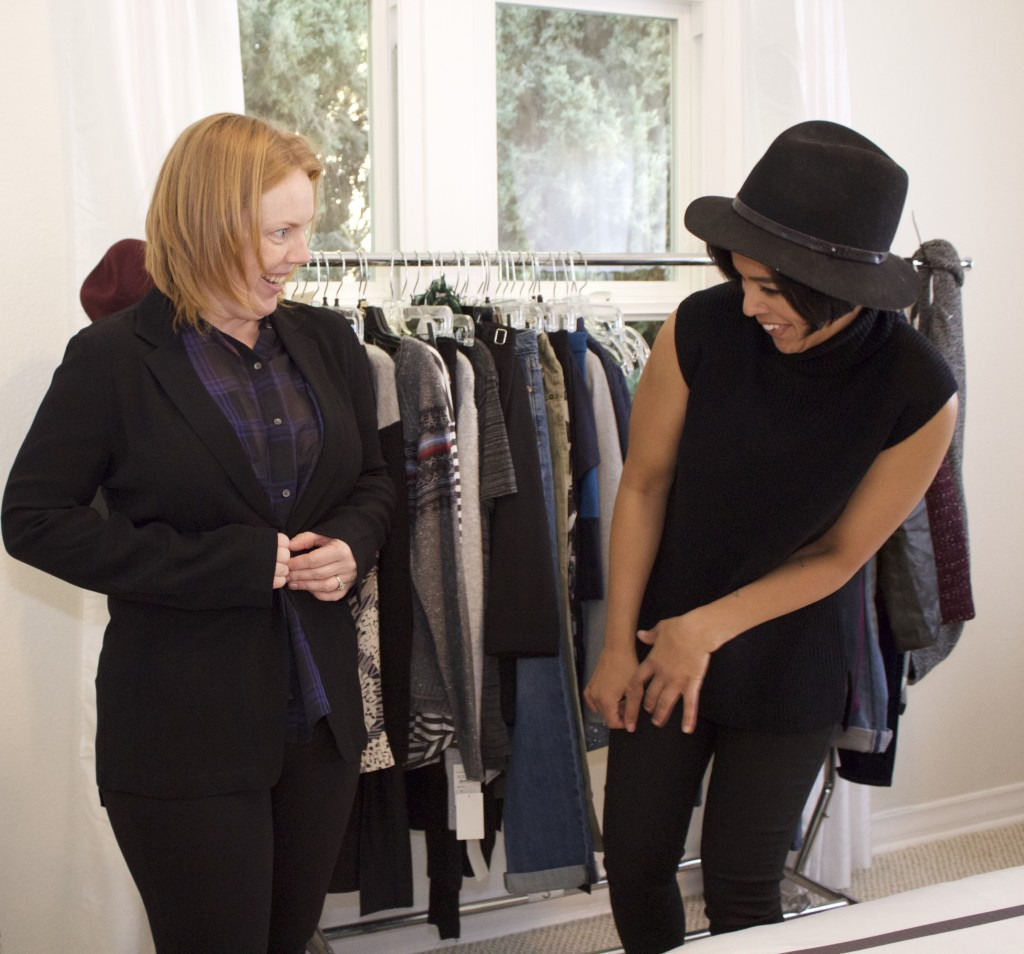 client fitting with stylist lauren messiah