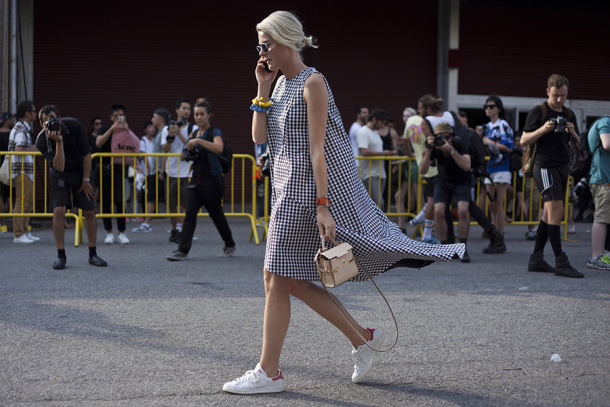 dress with classic adidas street style
