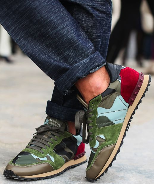 valentino camo shoes