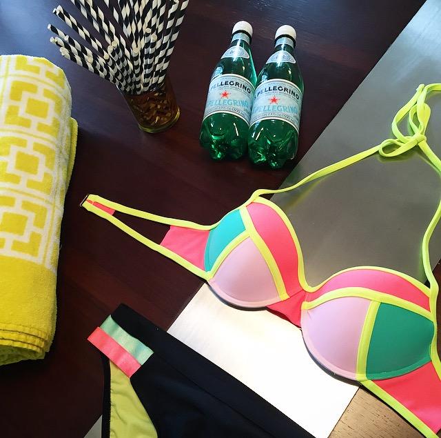 target swimsuit neon